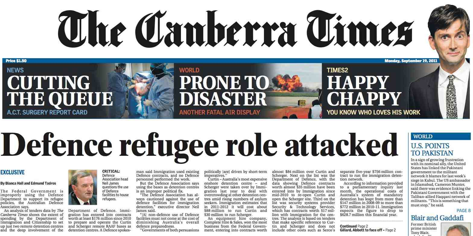 canberra times - photo #1